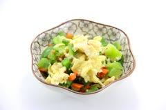 中国食物炒蛋 免版税库存图片