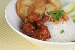 中国食物猪肉酸甜点 免版税库存图片