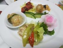中国食物盛肉盘 库存照片