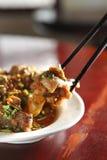中国食物膳食猪肉 免版税图库摄影