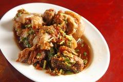 中国食物膳食猪肉 免版税库存照片