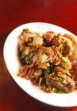 中国食物膳食猪肉 库存照片