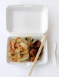 中国食物饭菜外卖点 库存图片