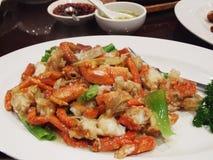 中国食物龙虾盘 库存图片