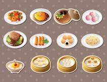中国食物贴纸 图库摄影