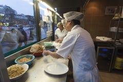 中国餐馆厨房,多伦多 免版税库存照片