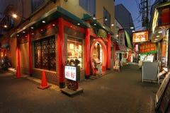 中国餐馆在唐人街 免版税库存照片