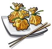 中国饺子蒸了 图库摄影
