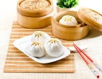 中国饺子食物被蒸的样式 免版税库存图片