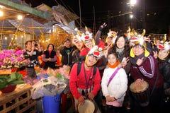 中国香港市场新年度 免版税库存图片