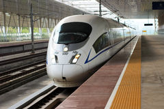 中国高速火车 免版税库存图片