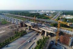 中国高速铁路建造场所 免版税图库摄影