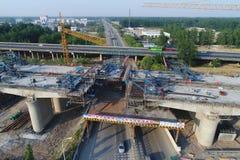 中国高速铁路建造场所 免版税库存图片