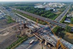 中国高速铁路建造场所 免版税库存照片