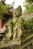 中国鬼魂雕象  免版税库存照片