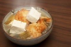 中国鱼汤豆腐 库存照片