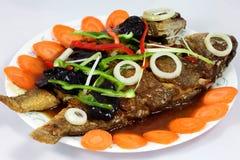 中国鱼食物酸甜点 库存图片