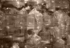中国鸟笼-葡萄酒样式 免版税库存图片