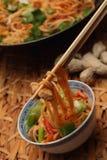 中国鸡面条 免版税图库摄影