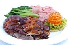 中国鸭子烘烤样式 库存照片