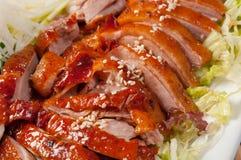 中国鸭子烤样式 库存图片