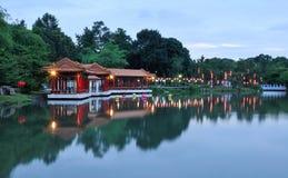 中国黄昏公园 免版税库存图片