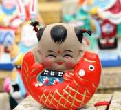 中国黏土小雕象 免版税库存照片