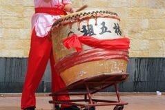 中国鼓手 免版税库存照片