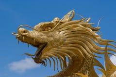 中国龙在Jomtien,泰国 免版税库存图片