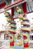 中国龙孪生 免版税图库摄影