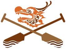 中国龙小船竞争例证 免版税库存照片