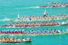 中国龙小船 免版税图库摄影