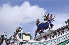 中国龙带头的独角兽,马,五颜六色的马, kilen, kyli 免版税库存图片