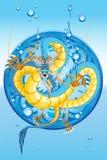 中国龙新的水年 免版税库存照片