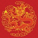 中国龙红色 库存图片