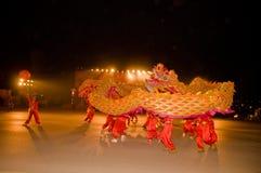 中国龙舞蹈 免版税库存图片