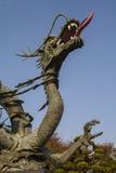 中国龙铁雕象。 龙的年 免版税图库摄影