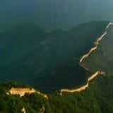 中国龙长城 库存照片