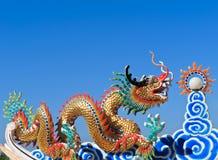 中国龙雕塑 库存图片