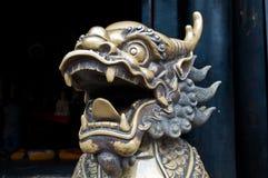 中国龙雕塑 库存照片