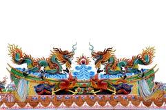 中国龙雕象寺庙 免版税库存照片
