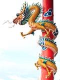 中国龙雕象样式 库存照片