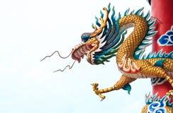 中国龙雕象样式 免版税库存图片