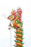 中国龙雕象样式 免版税库存照片