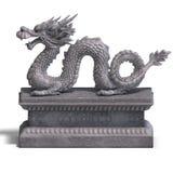 中国龙雕象石头 库存图片