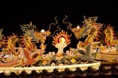 中国龙雕象 图库摄影