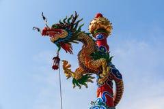 中国龙雕象 库存图片
