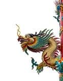 中国龙雕象 库存照片