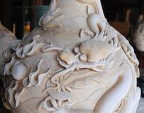 中国龙雕刻 免版税库存图片