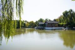 中国,亚洲,北京,盛大看法庭院,古色古香的大厦 库存照片